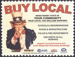 Buy local  poster
