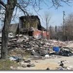 dilapidated building in Detroit