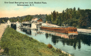 Erie Canal Boat going into Lock, Rexford Flats, Schenectady, N.Y.